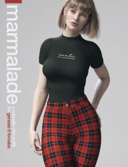 dForce Marmalade Outfit for Genesis 8 Female(s)
