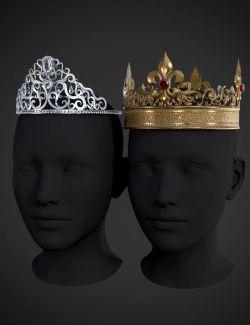 Royal Crowns for Genesis 8 Female(s)