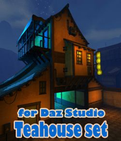 Teahouse set for Daz Studio