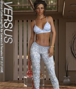 VERSUS - dForce Cutie Long PJs for Genesis 8 Females