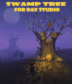 Swamp tree for Daz Studio