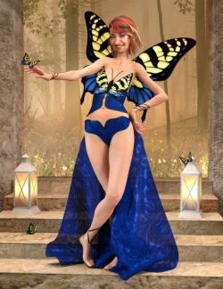 dForce Butterfly Outfit for Genesis 8 Female(s)