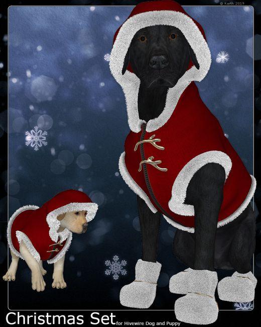 Christmas Set for HW BigDog and Puppy