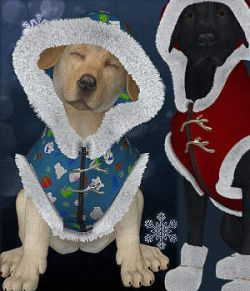 Christmas Set for HW BigDog and Puppy