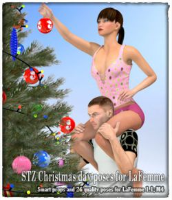 STZ Christmas day poses for LaFemme