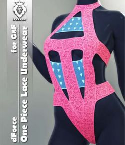 JMR dForce One Piece Lace Underwear for G8F