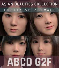 ABCD G2F HEAD MORPHS ONLY for Genesis 2 Female
