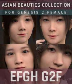 EFGH G2F HEAD MORPHS ONLY for Genesis 2 Female