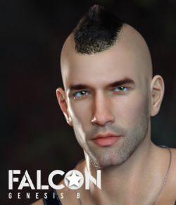 Falcon Character and Hair for Genesis 8 Male