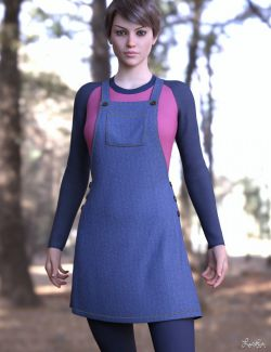 dForce Winterberry Outfit for Genesis 8 Female(s)