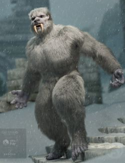 Snow Beast with dForce Hair for Genesis 8 Male