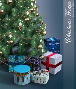 Daz Iray - Christmas Wraps