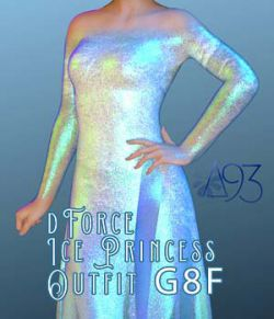 a93 - Ice Princess Outfit for G8F