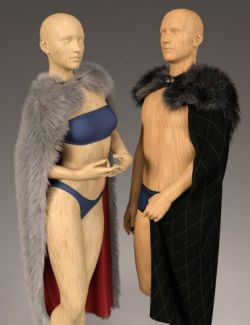 dForce Classic Fur Cape for Genesis 8