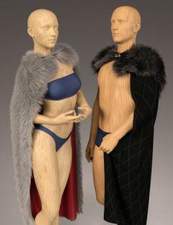 dForce Classic Fur Cape for Genesis 8