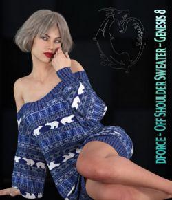 dforce - Off Shoulder Sweater - Genesis 8