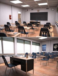High School Classroom Interior