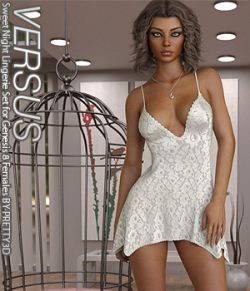 VERSUS - Sweet Night Lingerie Set for Genesis 8 Females
