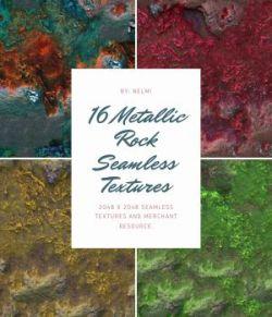 16 Metallic Rock Textures