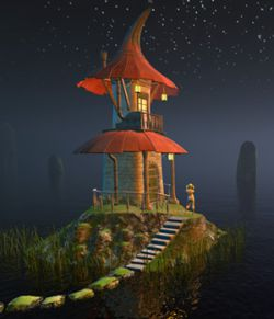 Fairy hut for Poser