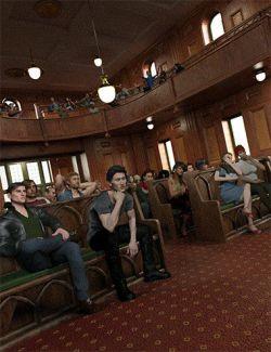 Now-Crowd Billboards- Modern Sitting Crowd