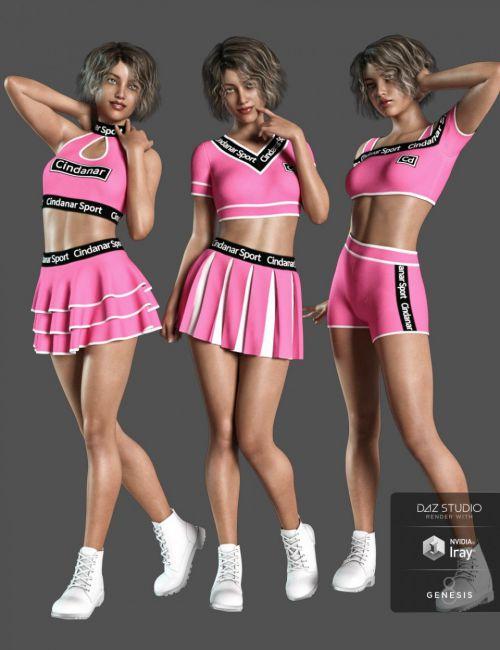 dForce Cheerleader Outfit for Genesis 8 Female(s)