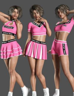 dForce Cheerleader Outfit for Genesis 8 Female(s)