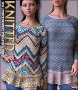 Knitted for dForce Peppery Sweater 'N Dress G8F
