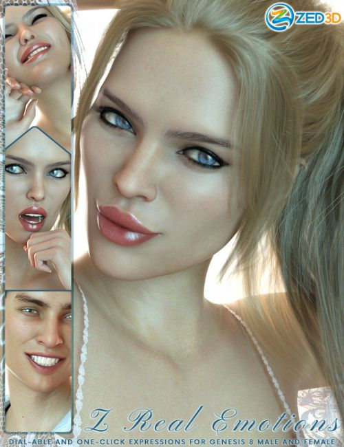 Z 50 Real Emotions Expressions for Genesis 8