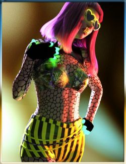 dForce Rave Party Outfit Raveva Textures