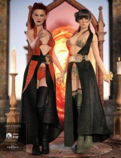 dForce Azahara Outfit Textures for Genesis 8 Female(s)