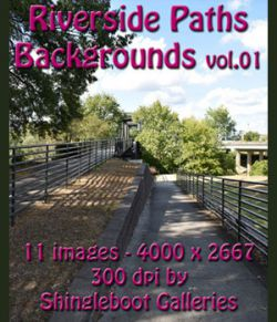 Riverside Paths Backgrounds vol.1