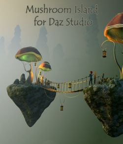 Mushroom Island for Daz Studio
