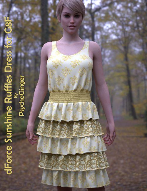 dForce Sunshine Ruffles Dress for G8F