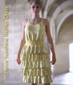 dForce Sunshine Ruffles Dress for G8F