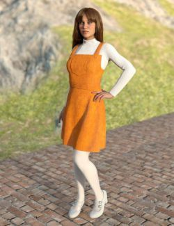 dForce Corduroy Jumper Outfit for Genesis 8 Female(s)