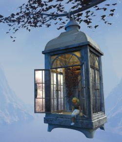 Autumn Lamp for Daz Studio
