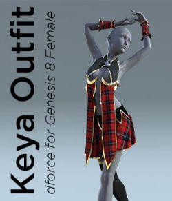 Keya Outfit for Genesis 8 Female