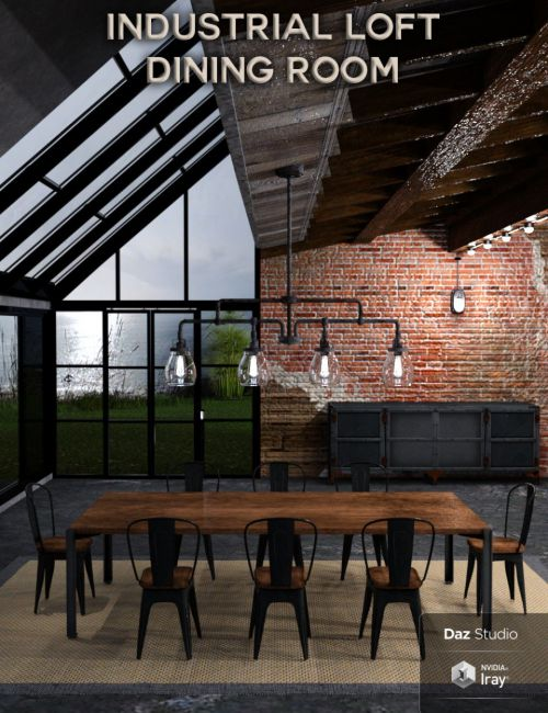 Industrial Loft Dining Room