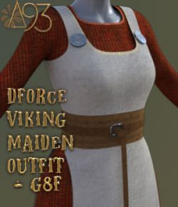 a93- dForce Viking Maiden Outfit G8F