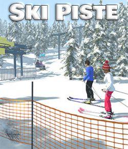 Ski Piste for Poser