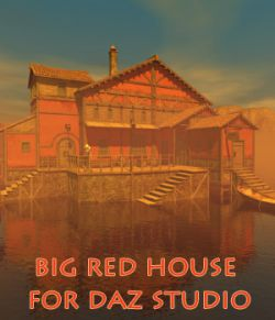 Big red house for Daz Studio