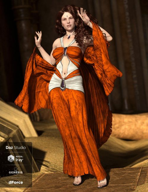 dForce Shadowdancer Addon for Genesis 8 Female(s)