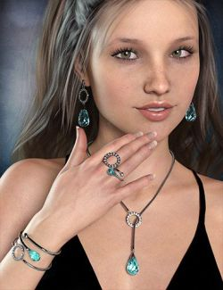 Droplet Jewelry for Genesis 8 Female(s)