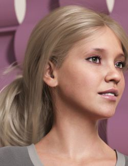 Wild Loop Tail Hair for Genesis 3 and 8 Female(s) and Male(s)