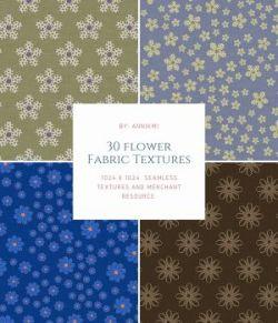 30 Flower Fabric Seamless Textures