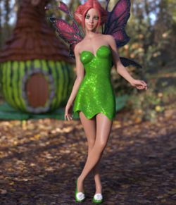 Leafy Dress for Genesis 8 Female