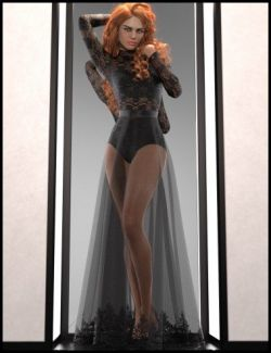 dForce Multi Bodysuit Skirt Outfit for Genesis 8 Female(s)