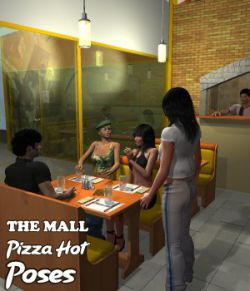 The Mall Pizza Hot Poses