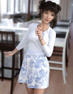 dForce Wrap Skirt Outfit for Genesis8 Female(s)